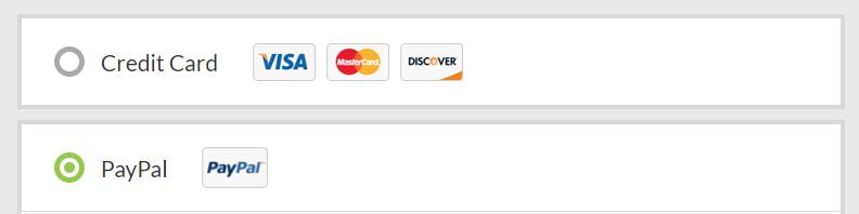 Overplay payment options (Visa Mastercard Paypal)