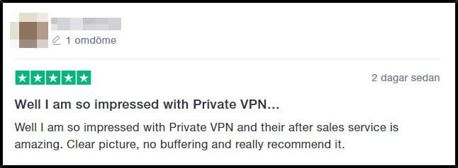 privatevpn-omdöme-på-trustpilot