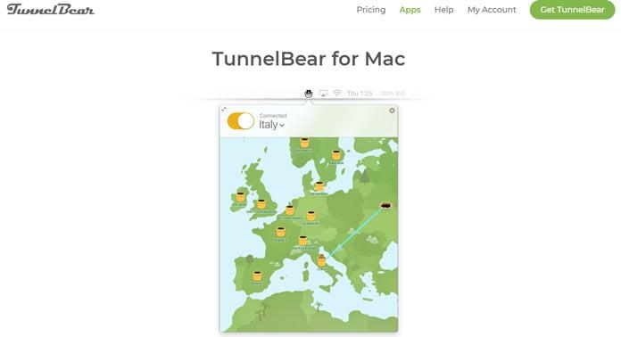 tunnelbear-app-för-mac