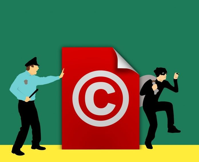 Copyright en polis och en copyrighttjuv