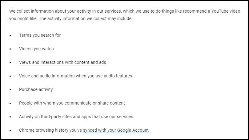 google-användaravtal
