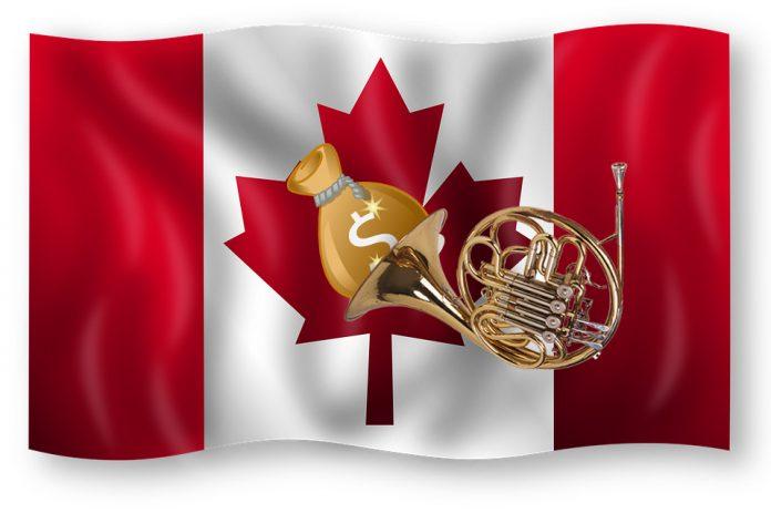 kanada flagga trumpet