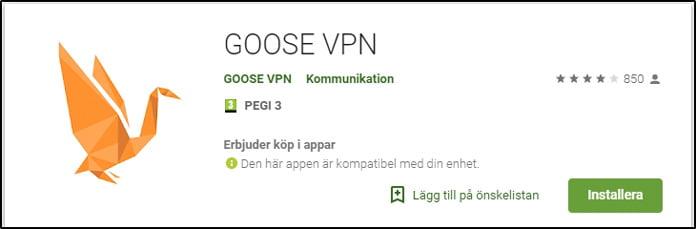 goosevpn-app-för-android