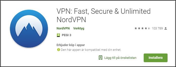 nordvpn-app-för-android-på-google-play