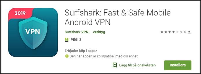 surfshark-app-för-android