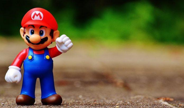 Nintendo mario åt höger