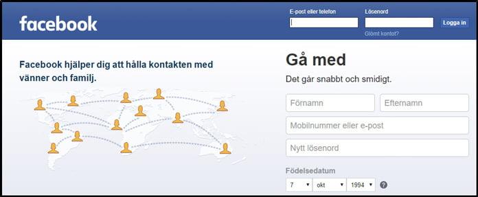 facebook-landningssida-för-tor