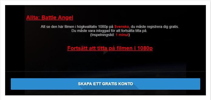 Swefilmer reklam