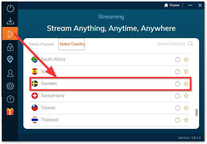 Svensk streamingserver med Ivacy