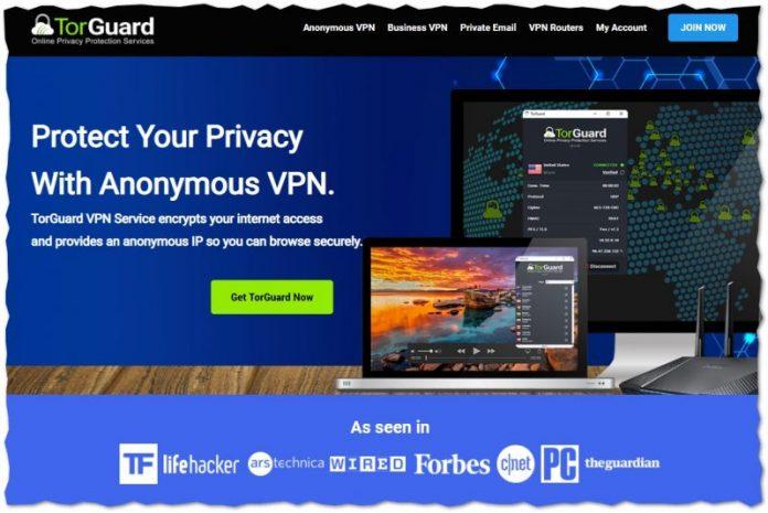 Torguard webbsida