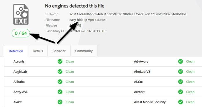 easy-hide-ip-inget-virus-i-programvaran