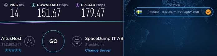 hastighetstest-för-server-i-sverige-med-vpn