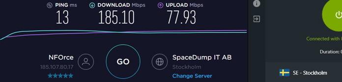 hastighetstest-för-zoogvpn-på-svensk-server