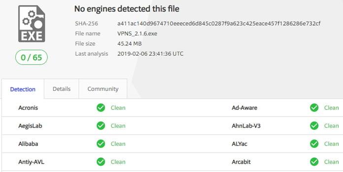 inget-virus-eller-malware-i-programvaran-för-vpnsecure