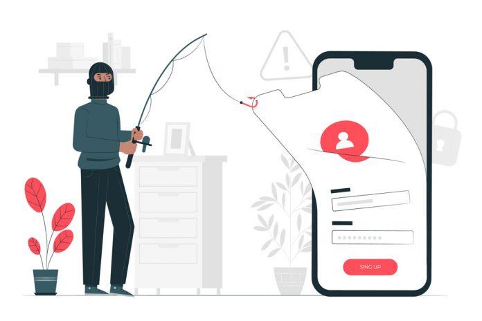 Cybergbrottsling som tar uppgifter