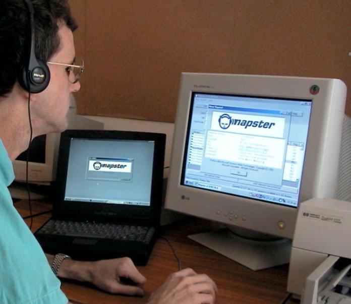 napster-på-en-dator