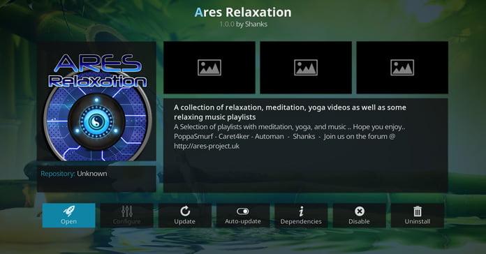 ares-relaxation-för-kodi