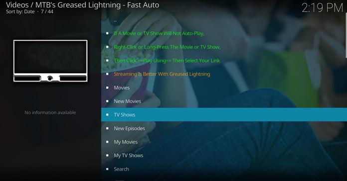 greased-lightning-innehåll-via-huvudgränssnittet