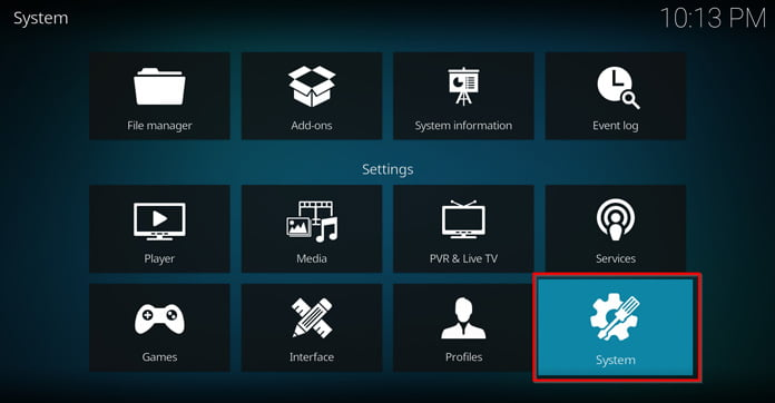kodi-system-settings
