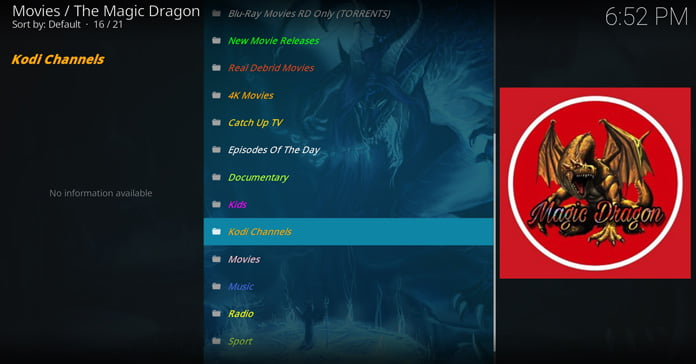 magic-dragon-huvudgränssnittet