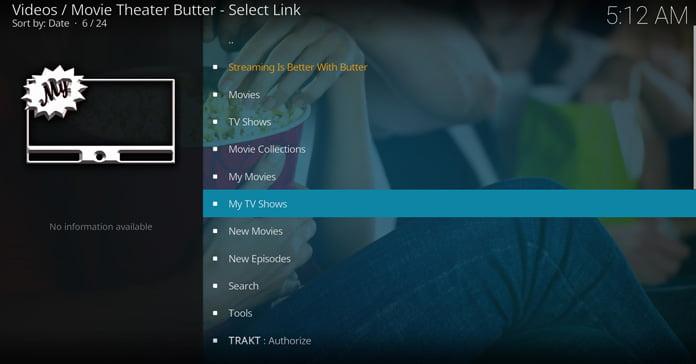 movie-theater-butter-gränssnitt