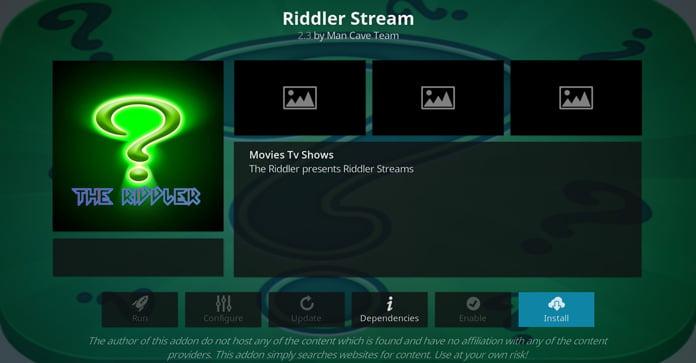 riddler-stream-kodi-tillägg