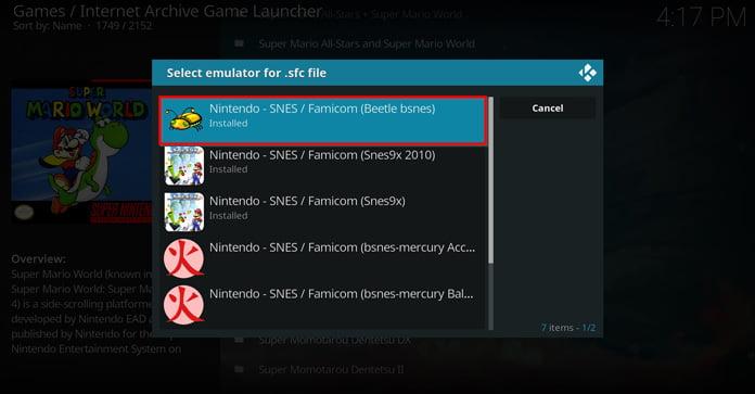 välj-emulator