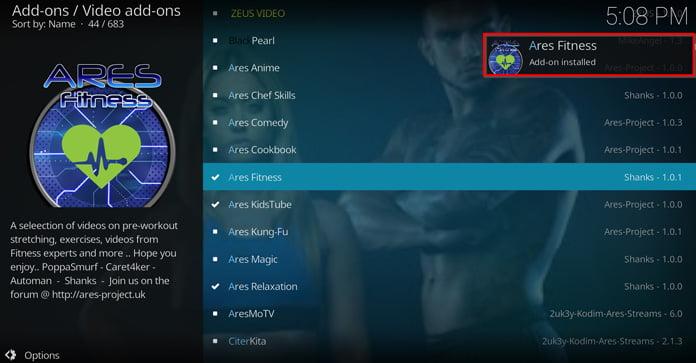 ares-fitness-är-installerad-säger-popup-ruta