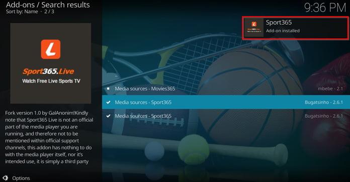 en-popup-ruta-säger-att-sport-365-har-installerats