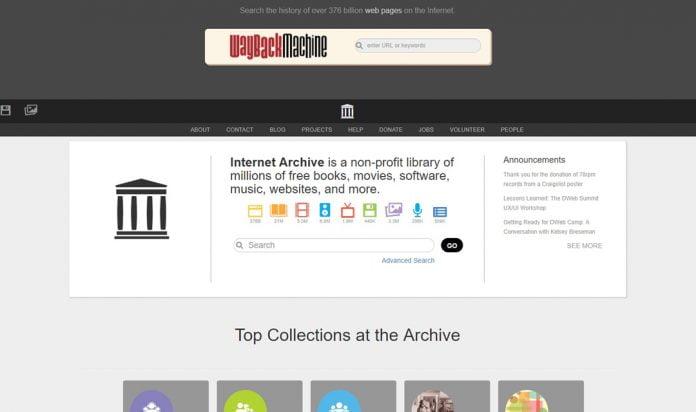 internet-archive-landningssida