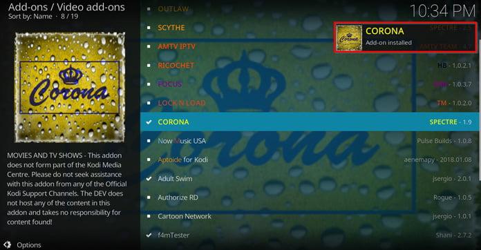popup-ruta-säger-att-corona-är-installerad