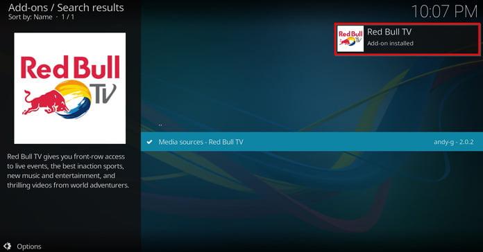 popup-ruta-säger-att-red-bull-tv-är-installerat