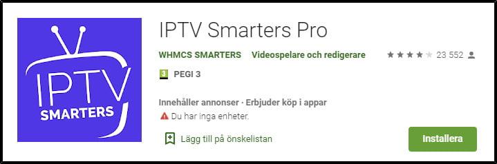 iptv-smarters-på-google-play