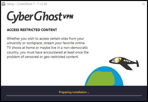 cyberghost-installation
