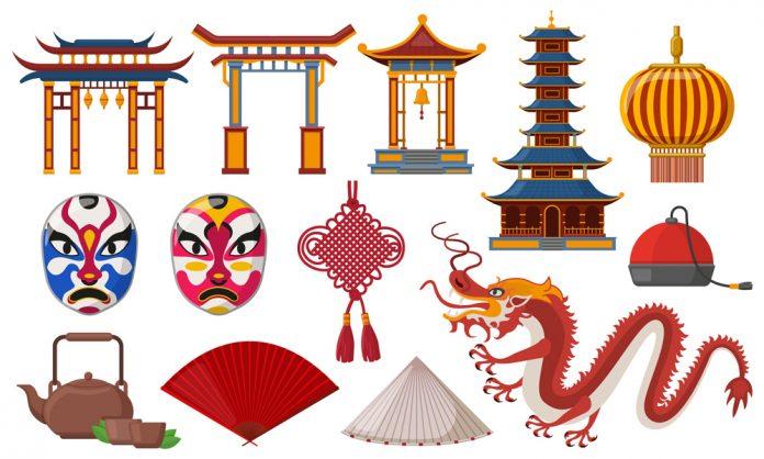 Bild med kinesiska symboler