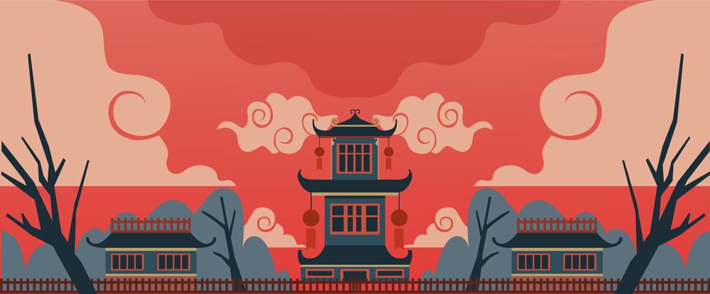 Kinesisk byggnad