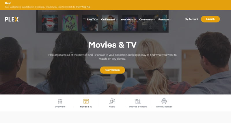 plex-streamingplattform-webbsidan