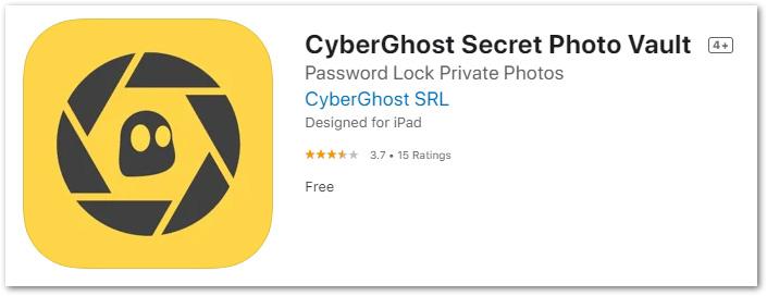 Cyberghost secret photo vault