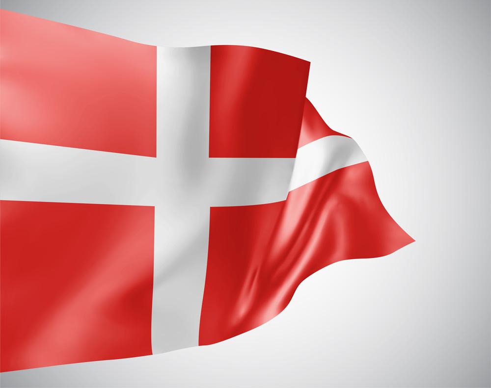 En dansk flagga som svajar