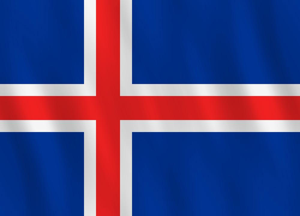 Flagga over island