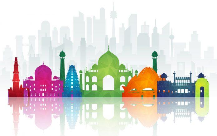 Hoga byggnader i Indien