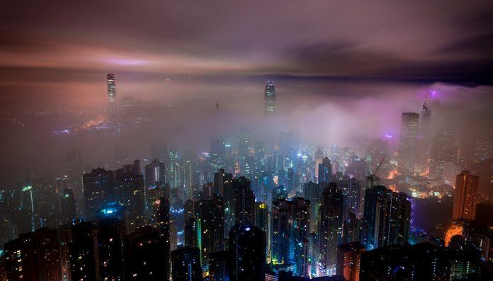 hongkong-bild-över-staden